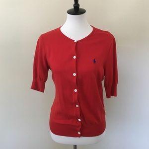 Ralph Lauren Short Sleeve Cardigan Sweater
